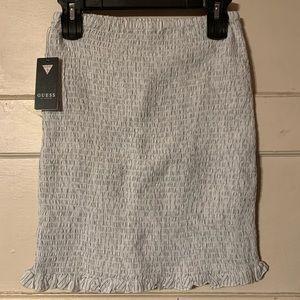 Guess mini striped skirt